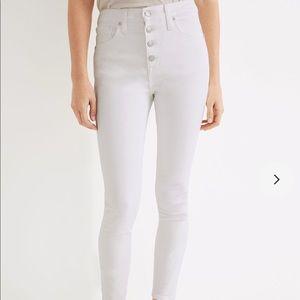 NWT Madewell white skinny jeans